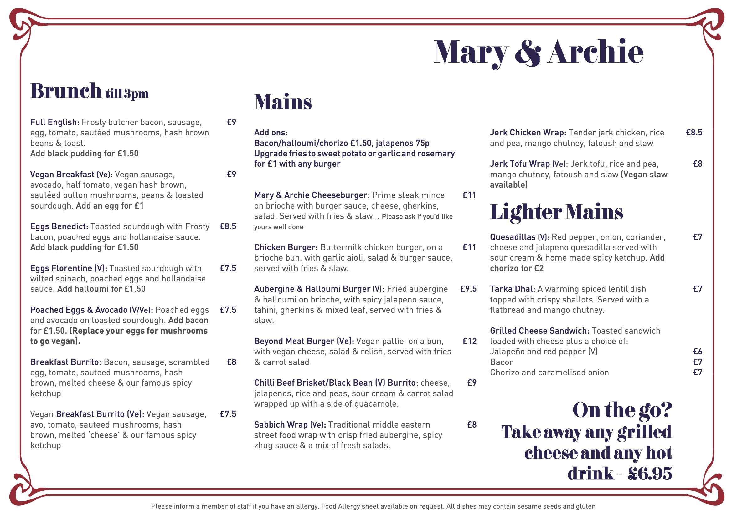 Didsbury Menu Oct 2020